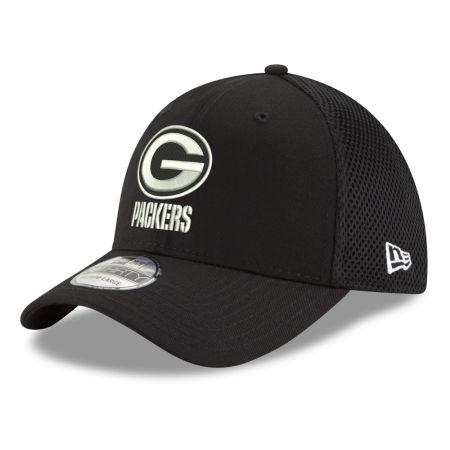 Green Bay Packers New Era NFL Black & White Neo 39THIRTY Cap