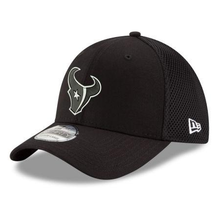 Houston Texans New Era NFL Black & White Neo 39THIRTY Cap