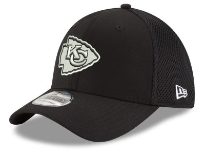 Kansas City Chiefs New Era NFL Black & White Neo 39THIRTY Cap
