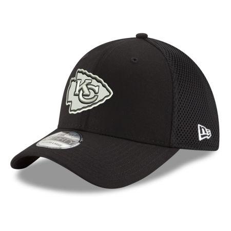 Kansas City Chiefs New Era NFL Black & White Neo 39THIRTY Cap