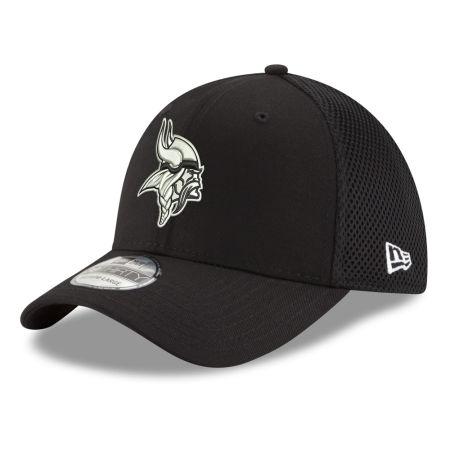 Minnesota Vikings New Era NFL Black & White Neo 39THIRTY Cap