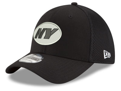 New York Jets New Era NFL Black & White Neo 39THIRTY Cap