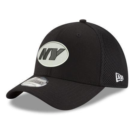 New York Jets New Era NFL Black & White Neo 39THIRTY Cap