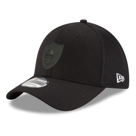Oakland Raiders New Era NFL Black & White Neo 39THIRTY Cap