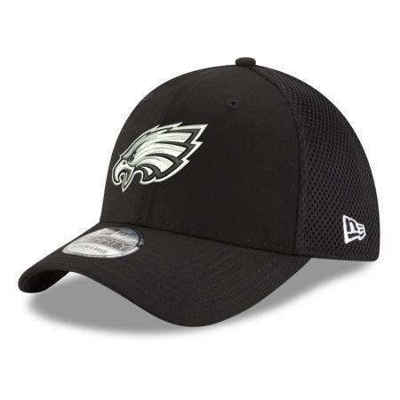 Philadelphia Eagles New Era NFL Black & White Neo 39THIRTY Cap