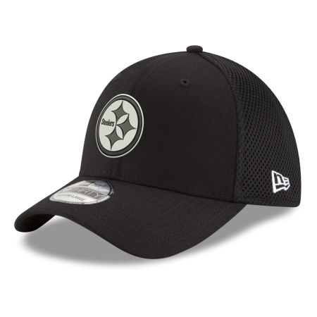 Pittsburgh Steelers New Era NFL Black & White Neo 39THIRTY Cap