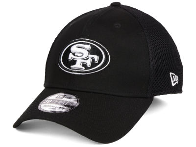 San Francisco 49ers New Era NFL Black & White Neo 39THIRTY Cap