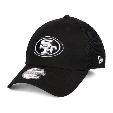 San Francisco 49ers New Era NFL Black & White Neo 39THIRTY Cap