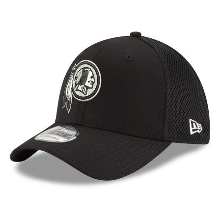 Washington Redskins New Era NFL Black & White Neo 39THIRTY Cap