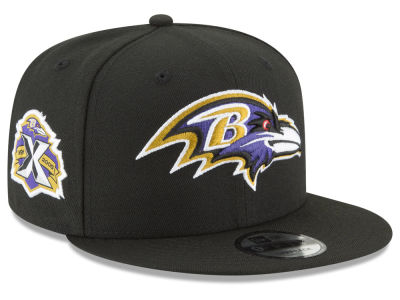 Baltimore Ravens New Era NFL Anniversary Patch 9FIFTY Snapback Cap