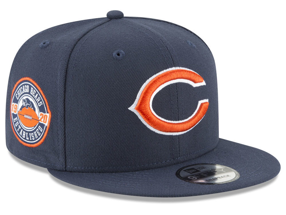 1a1816a0fa4 Chicago Bears New Era NFL Anniversary Patch 9FIFTY Snapback Cap ...