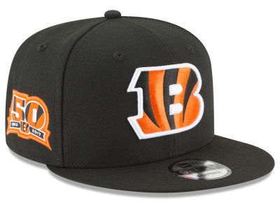 Cincinnati Bengals New Era NFL Anniversary Patch 9FIFTY Snapback Cap