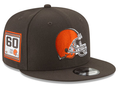 Cleveland Browns New Era NFL Anniversary Patch 9FIFTY Snapback Cap