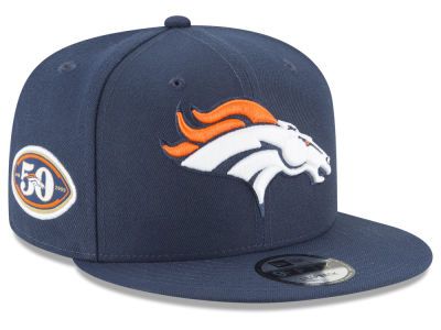 Denver Broncos New Era NFL Anniversary Patch 9FIFTY Snapback Cap