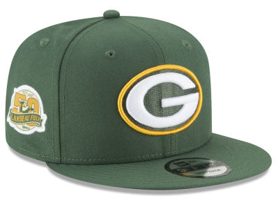 Green Bay Packers New Era NFL Anniversary Patch 9FIFTY Snapback Cap