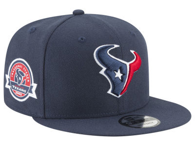 Houston Texans New Era NFL Anniversary Patch 9FIFTY Snapback Cap