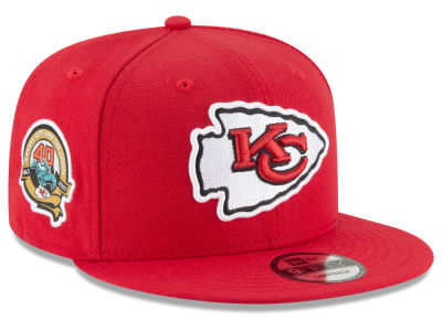 Kansas City Chiefs New Era NFL Anniversary Patch 9FIFTY Snapback Cap
