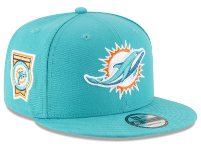 Miami Dolphins New Era NFL Anniversary Patch 9FIFTY Snapback Cap
