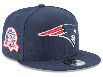 New England Patriots New Era NFL Anniversary Patch 9FIFTY Snapback Cap