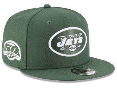 New York Jets New Era NFL Anniversary Patch 9FIFTY Snapback Cap