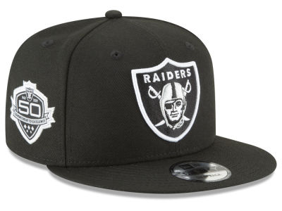 Oakland Raiders New Era NFL Anniversary Patch 9FIFTY Snapback Cap