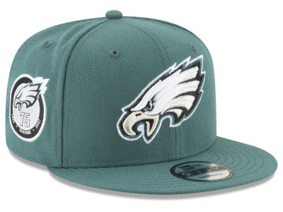 Philadelphia Eagles New Era NFL Anniversary Patch 9FIFTY Snapback Cap
