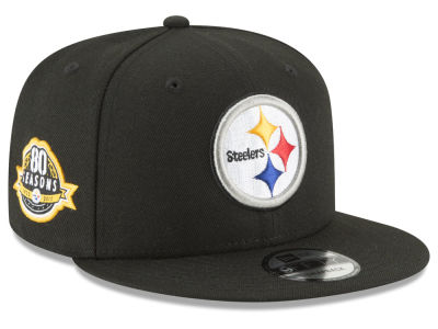 Pittsburgh Steelers New Era NFL Anniversary Patch 9FIFTY Snapback Cap