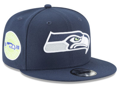Seattle Seahawks New Era NFL Anniversary Patch 9FIFTY Snapback Cap