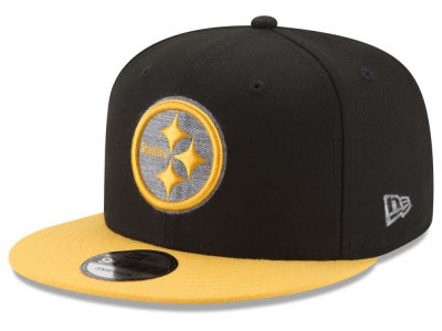 Pittsburgh Steelers New Era NFL Heather Pop 9FIFTY Snapback Cap
