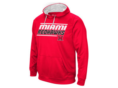 Miami (Ohio) Redhawks Colosseum NCAA Men's Stack Performance Hoodie