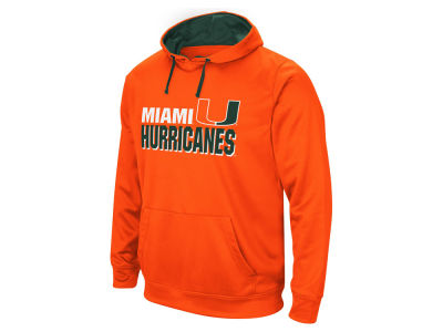 Miami Hurricanes Colosseum NCAA Men's Stack Performance Hoodie