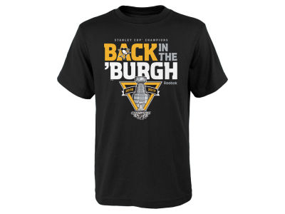 Pittsburgh Penguins Reebok 2017 NHL Youth Celebration Stanley Cup Champ T-Shirt