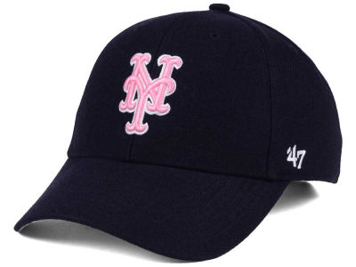 New York Mets '47 MLB Navy Pink MVP Cap