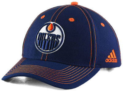 Edmonton Oilers adidas NHL Bar Down Adjustable Cap