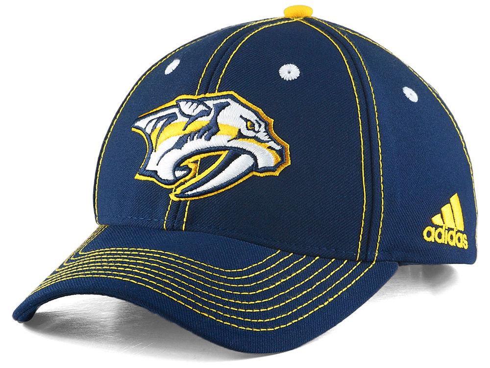 415b7d47533 Nashville Predators adidas NHL Bar Down Adjustable Cap