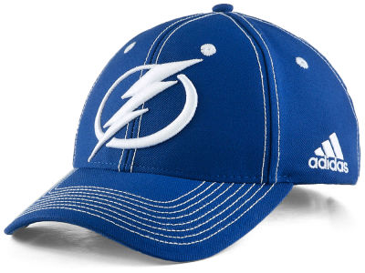 Tampa Bay Lightning adidas NHL Bar Down Adjustable Cap