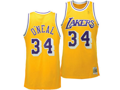 Los Angeles Lakers Shaq O'Neal Mitchell & Ness NBA Men's Hardwood Classic Swingman Jersey