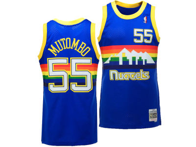Denver Nuggets Dikembe Mutombo Mitchell & Ness NBA Men's Hardwood Classic Swingman Jersey