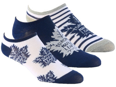 Toronto Maple Leafs Women's No Show Socks - 3pk