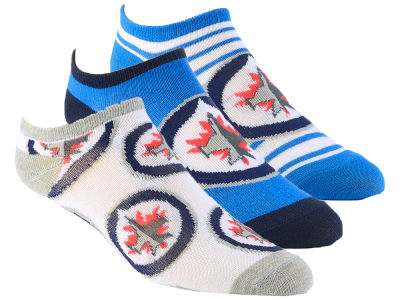 Winnipeg Jets Women's No Show Socks - 3pk
