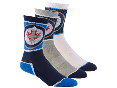 Winnipeg Jets Youth Sport Socks - 3pk