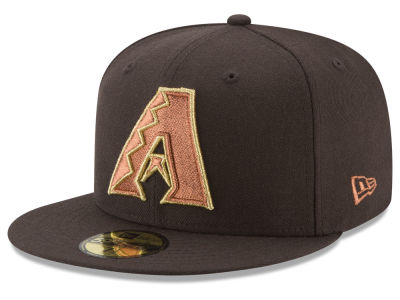 Arizona Diamondbacks New Era MLB Brown on Metallic 59FIFTY Cap