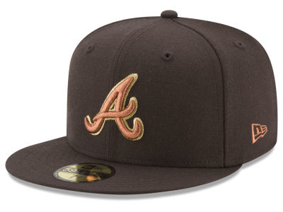 Atlanta Braves New Era MLB Brown on Metallic 59FIFTY Cap