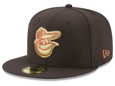 Baltimore Orioles New Era MLB Brown on Metallic 59FIFTY Cap