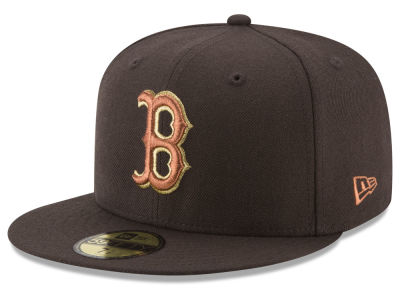 Boston Red Sox New Era MLB Brown on Metallic 59FIFTY Cap
