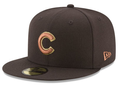 Chicago Cubs New Era MLB Brown on Metallic 59FIFTY Cap