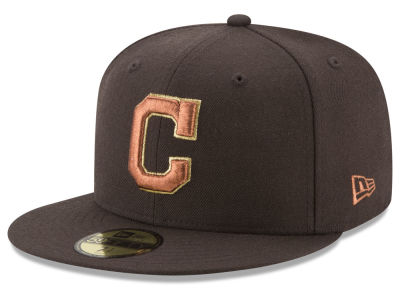 Cleveland Indians New Era MLB Brown on Metallic 59FIFTY Cap
