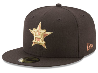 Houston Astros New Era MLB Brown on Metallic 59FIFTY Cap
