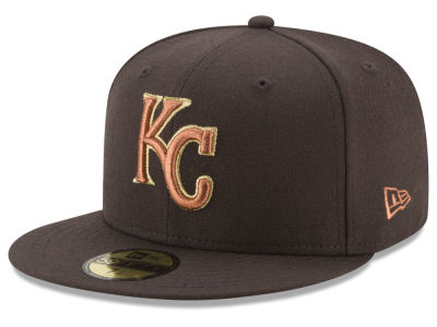 Kansas City Royals New Era MLB Brown on Metallic 59FIFTY Cap