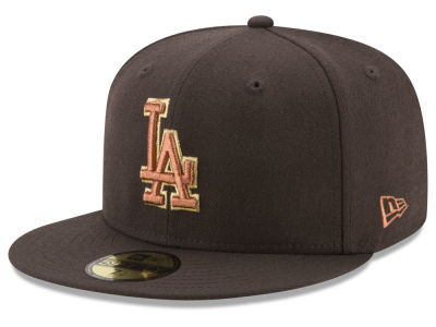 Los Angeles Dodgers New Era MLB Brown on Metallic 59FIFTY Cap